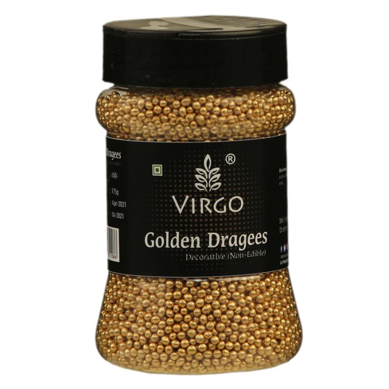 Virgo Golden Dragees Decorative Size 0- 175gms