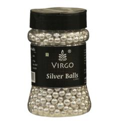 Virgo Silver Balls Edible Size 3 - 175 Gms